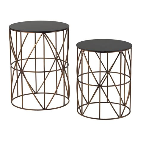 Drum Side Table Bradfield Set Of Two Drum Side Tables