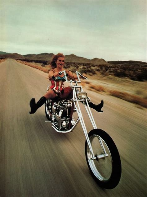 Motorrad Triumph Spr Che by Margret A Chopper Outside Of Las Vegas 1969