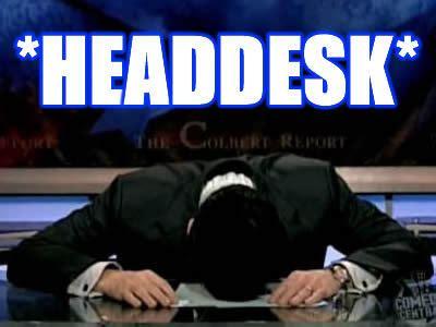 Head Desk Meme - double face palm with a headdesk the crawdad hole