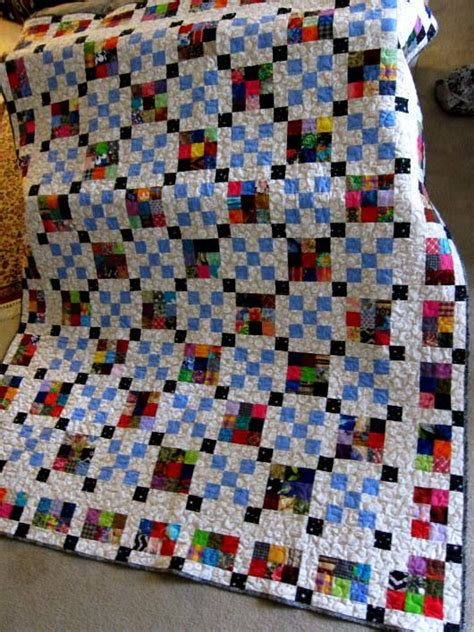 english pdf pattern building houses from scraps quilt scrap happy nine patch quilt pattern favequilts com