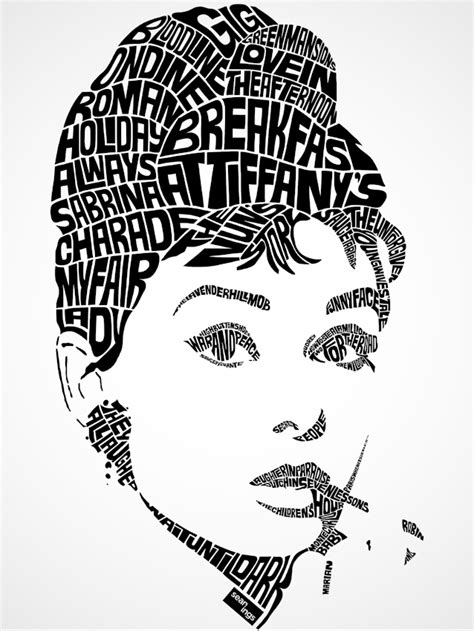 illustrator tutorial typography portrait audrey hepburn typographic design seanings photography