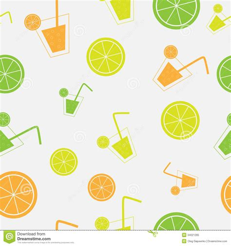 pattern vector no background citrus cocktail seamless pattern background vector royalty