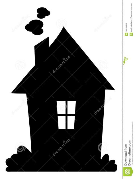 silhouette house house silhouette royalty free stock images image 20699819