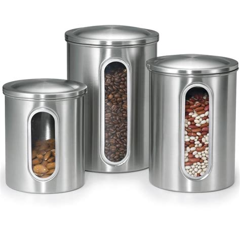 kitchen canister sets stainless steel 5 best stainless steel kitchen canister set convenient