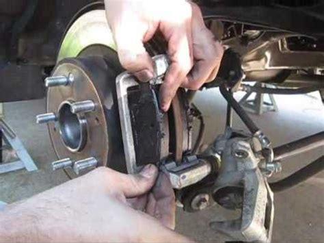 2009 honda accord rear brake pad change youtube