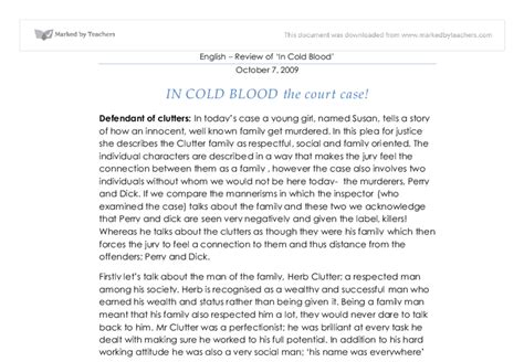 In Cold Blood Essays by In Cold Blood Essay Analysis Writefiction581 Web Fc2