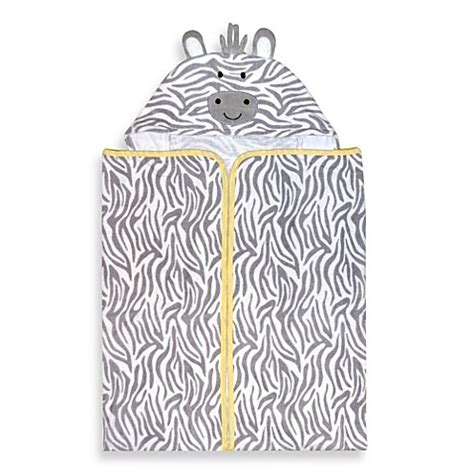 welcome to the bathtub just born 174 welcome to the circus hooded bath wrap in neutral buybuy baby