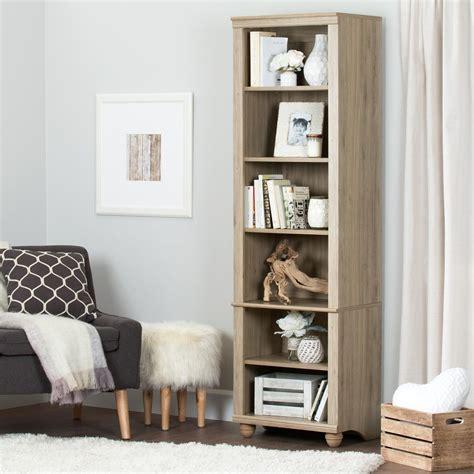 south shore hopedale narrow 6 shelf bookcase hopedale narrow 6 shelf bookcase rustic oak