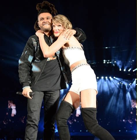 taylor swift duet with country singer taylor swift the weeknd perform can t feel my face