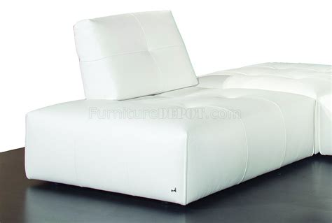 ibiza modular sectional sofa in white premium leather by j m