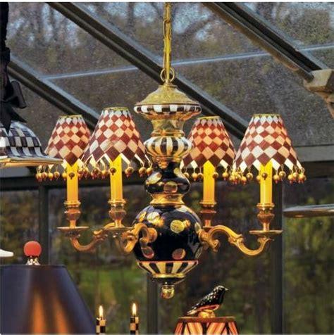 mackenzie childs l shades mackenzie childs black tie chandelier chelseagiftsonline com