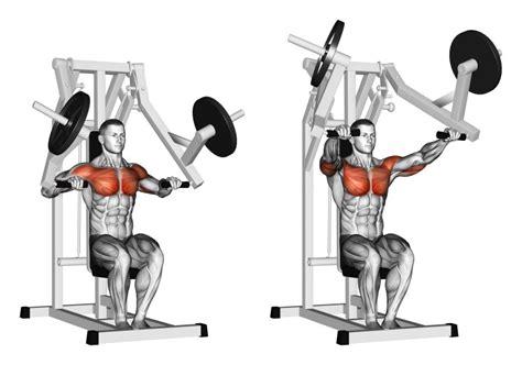 allenamento pettorali interni pressa per pettorali o chest press esercizio per