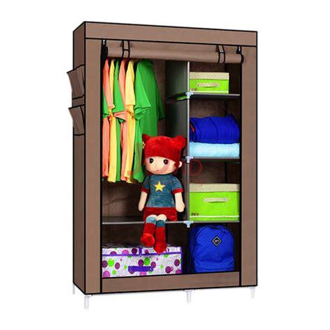Lemari Fortable jual starhome lemari pakaian multifungsi lemari portable organizer pakaian coklat gy02 br