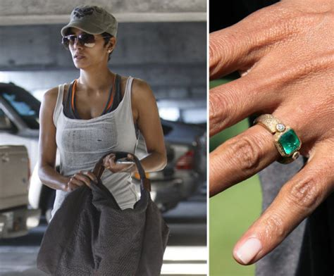 halle berry started wearing an emerald engagement ring