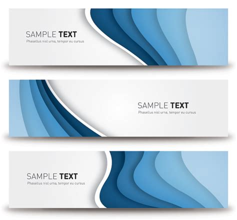 design banner ventor blue banners vector graphic by dryicons vector