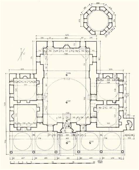 Floor Plan Of A Mosque by Rum Mehmed Pasa Mosque Floor Plan Of Mosque And