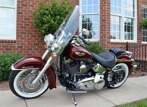 buy 2007 harley davidson softail deluxe black cherry on 2040 motos