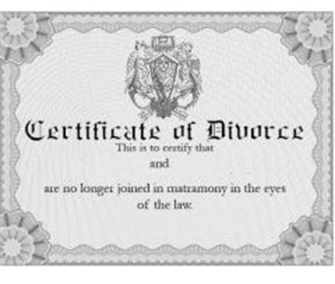 Free Marriage And Divorce Records Divorce Certificates