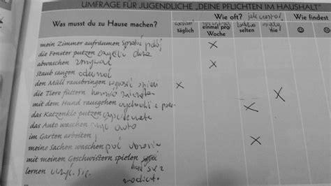 Pflichten Im Haushalt 5848 by Markiere Deine Antworten In Der Umfrage Und Berichte 252 Ber