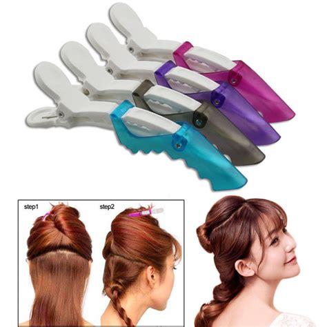 section hair salon newest 10pcs salon hair clips plastic hairdressing section