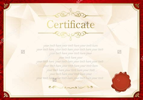 certificate design red 36 blank certificate template free psd vector eps ai