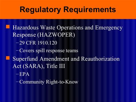 29 cfr 1910 section 120 spill prevention and control training by usmra