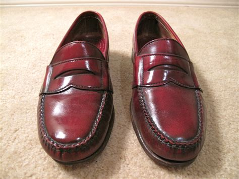 american made loafers vintage oxblood leather loafers shoes made in usa