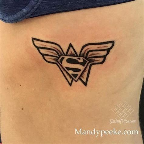 combination tattoo designs a superman combo done by mandy mandypeeke