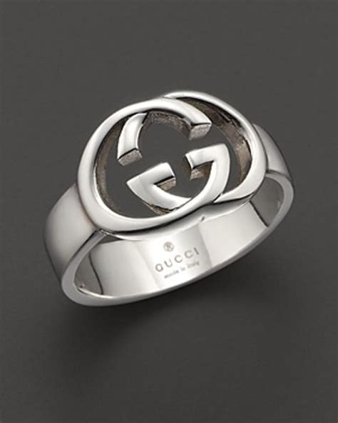 gucci sterling silver britt ring in silver no color lyst