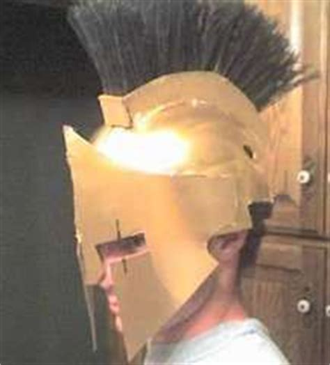 How To Make A Spartan Helmet Out Of Paper - 1000 images about on cardboard