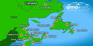 map of canada airports map of airports in newfoundland pictures to pin on