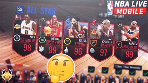 nba mobile 5 players we want in nba live mobile 99 michael