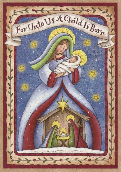 madonna  child nativity religious christmas card  lpg