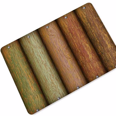 Thin Doormat by Drop Shipping Retro Wood Series Doormat Thin Rubber