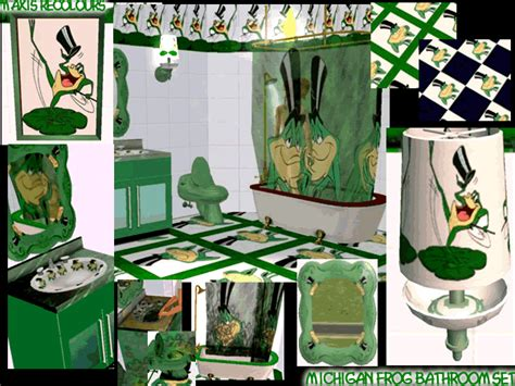 frog bathroom sets mod the sims michigan frog bathroom set