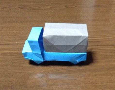 How To Make A Paper Car Origami - how to make a origami truck car