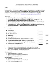 business meeting minutes template sle meeting minutes format 7 exles in pdf word