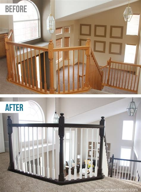 how to stain banister easy ways to upgrade an outdated home