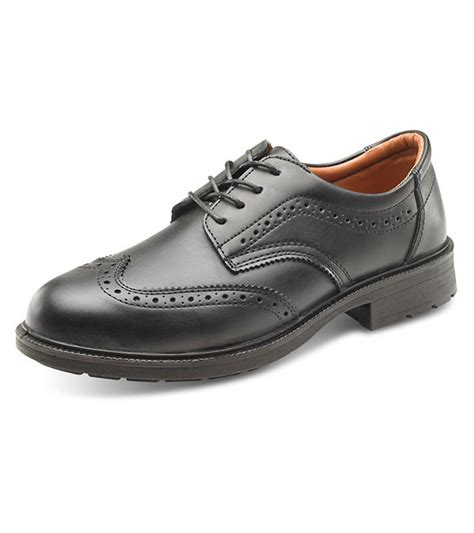 black work shoes brogue safety black work shoes