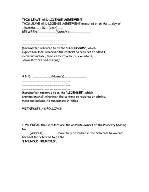 Termination Letter Format For Leave And License Agreement this leave and license agreement