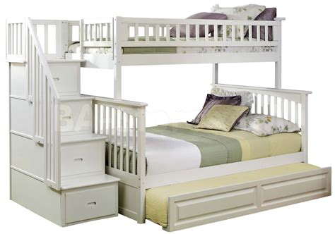 white bunk bed with trundle 301 moved permanently