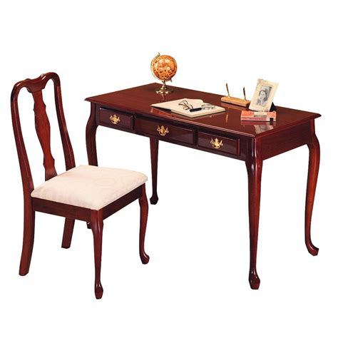 ore international cherry home office desk and chair set by