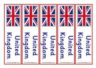 printable bookmarks activity village united kingdom flag printables