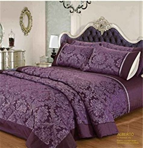 purple damask bedding king size aubergine purple alberto damask bedspread