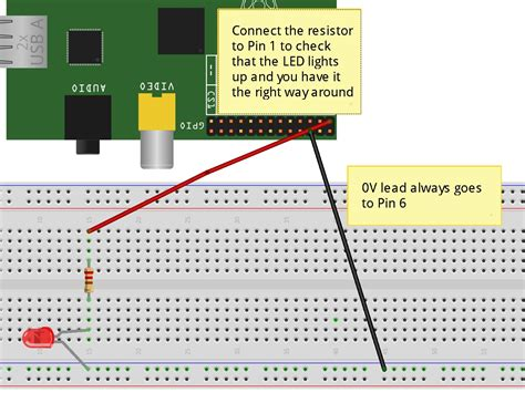 how to connect resistor with led scratch controlling the gpio on a raspberrypi cymplecy simplesi