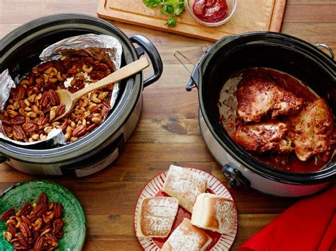 slow cooker holiday party recipes food network holiday recipes menus desserts party ideas