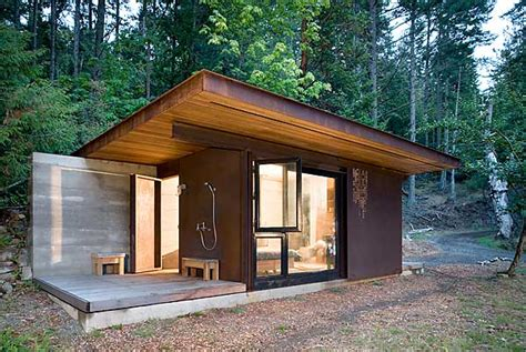 tiny house articles tiny cabin made from steel wood shows off tom kundig s