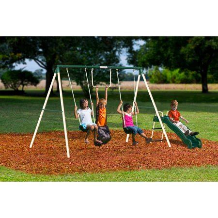 walmart com swing sets flexible flyer outside fun ii metal swing set walmart com