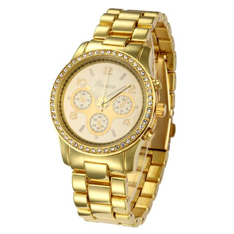 gold colored watches