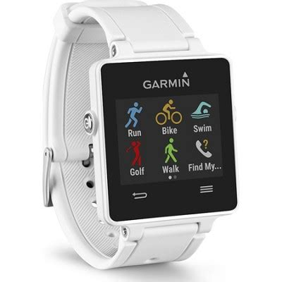 Xeero Smartwatch Garmin Vivoactive White Gps Smartwatch 010 01297 01 Buydig